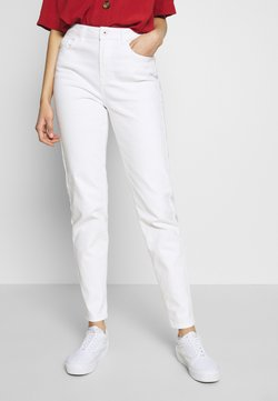 PIECES Tall - PCLEAH MOM - Jeans baggy - bright white
