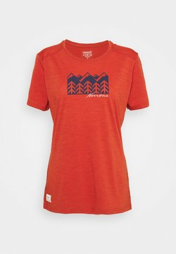 Norrøna - SVALBARD - Print T-shirt - rooibos tea