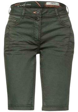 Cecil - Jeans Shorts - dark green