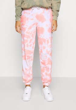 New Look - TIE DYE JOGGERS - Jogginghose - mid pink