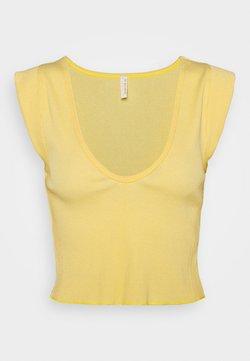 Free People - PERFECT DAY TANK - Printtipaita - light yellow