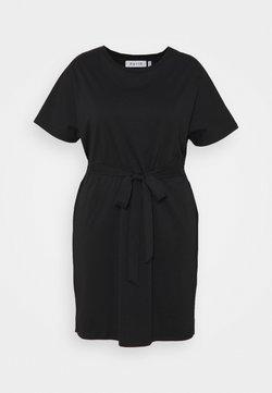 NU-IN - CAP SLEEVE MINI DRESS - Jerseykleid - black