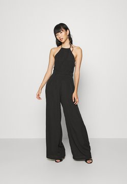 Missguided - HALTERNECK WIDE LEG - Combinaison - black