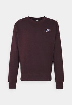 Nike Sportswear - CLUB - Sweatshirt - mahogany/white