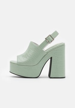Jeffrey Campbell - Korkeakorkoiset sandaalit - mint green