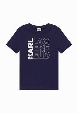 KARL LAGERFELD - SHORT SLEEVES TEE - T-shirt print - navy