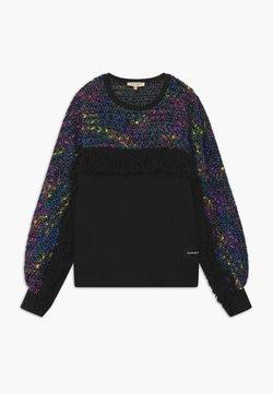TWINSET - GIROCOLLO FRANGE - Sweater - black