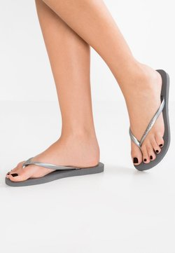 Havaianas - SLIM FIT - Teenslippers - grey/silver