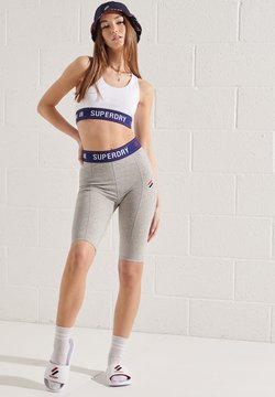Superdry - SPORTSTYLE ESSENTIAL - Tights - grey slub grindle