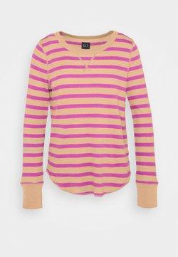 GAP - WAFFLE - Pitkähihainen paita - purple stripe