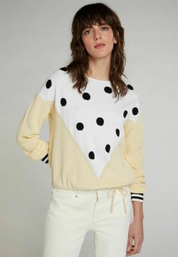 Oui - Strickpullover - yellow white