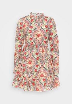 Glamorous - PRAIRIE MINI DRESS WITH RUFFLE  - Freizeitkleid - multi-coloured