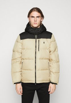 Polo Ralph Lauren - JACKET - Daunenjacke - tan/dark blue