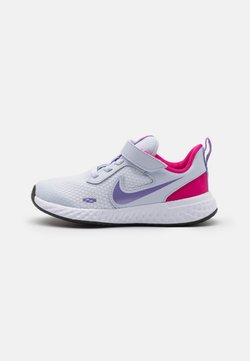 Nike Performance - REVOLUTION 5 UNISEX - Chaussures de running neutres - football grey/purple pulse/fireberry/white
