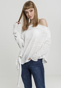 Urban Classics - LADIES ASYMMETRIC - Strickpullover - white