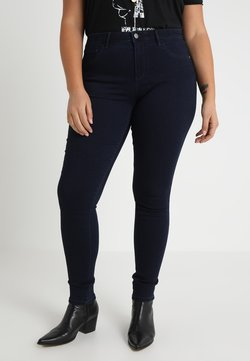 ONLY Carmakoma - CARTHUNDER PUSH UP - Jeans Skinny - dark blue denim