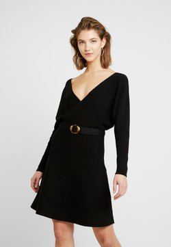 Forever New - MADELYN BELTED DRESS - Gebreide jurk - black