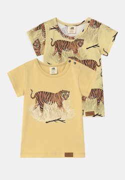 Walkiddy - TIGERS 2 PACK UNISEX - T-shirt print - yellow