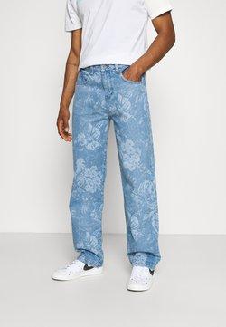 Jaded London - LASER ETCHED FLORAL SKATE - Jeans Straight Leg - blue