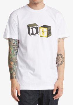 DC Shoes - BUILDING BLOCKS  - T-shirt print - white