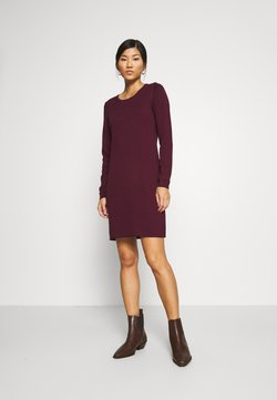 edc by Esprit - DRESS - Gebreide jurk - bordeaux red