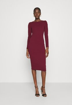 Dorothy Perkins - RUCHED SLEEVE BODYCON DRESS - Jerseykleid - purple