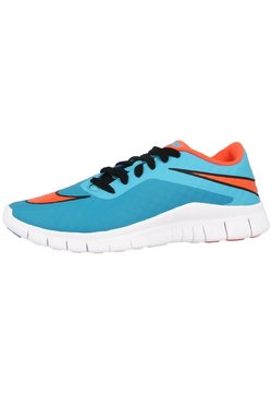 Nike Performance - LAUFSCHUHE FREE HYPERVENOM - Laufschuh Natural running - clearwater-total crimson-blue lagoon-white