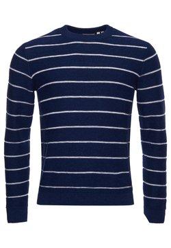 Superdry - CALI SURF STRIPE CREW  - Strickpullover - patriot blue stripe