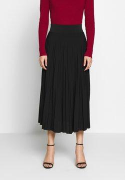 Anna Field - Plisse A-line midi skirt - Gonna a campana - black