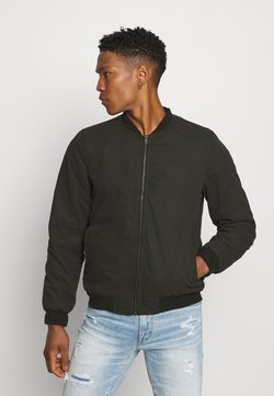 Cotton On - CANVAS BOMBER - Giubbotto Bomber - black