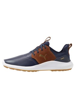 Puma Golf - IGNITE NXT CRAFTED - Golfschuh - peacoat/brown/team gold