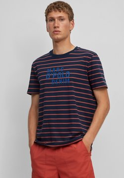 Marc O'Polo DENIM - T-Shirt print - multi/blue night sky