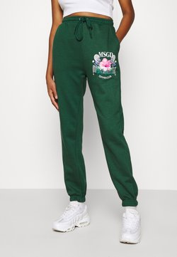 Missguided - TENNIS GRAPHIC JOGGER - Jogginghose - green
