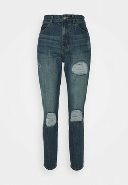 Dr.Denim - NORA - Jeans Slim Fit - mid blue ripped