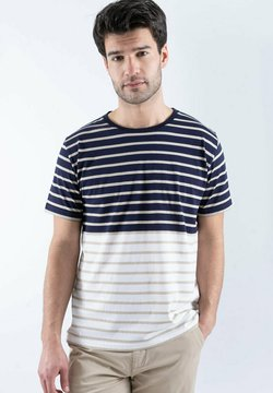 Armor lux - T-Shirt print - navire/flax/blanc