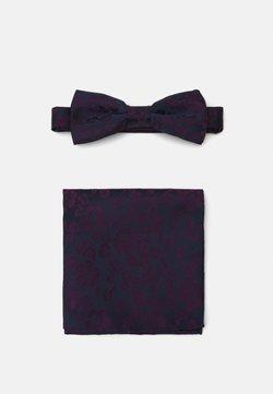 Only & Sons - ONSTIMOTHY PATTERN BOWTIE SET - Einstecktuch - dark navy/purple