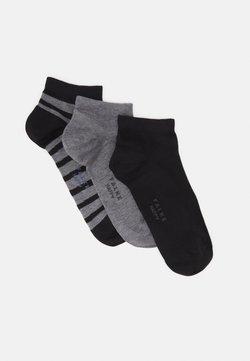 FALKE - HAPPY BOX 3 PACK - Socken - black