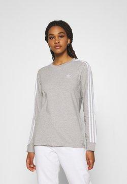 adidas Originals - 3-STRIPES ADICOLOR - Langarmshirt - medium grey heather