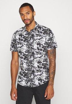 Topman - SMART CAMO FLORAL - Shirt - black/white