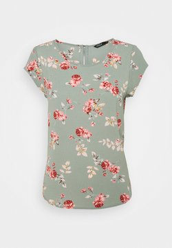 ONLY Petite - ONLVIC  - Bluse - chinois green/red