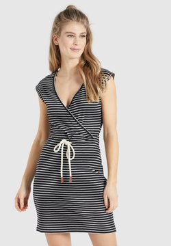 khujo - ORIANNA - Jerseykleid - schwarz-weiß gestreift