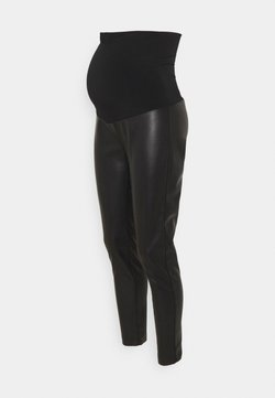 ATTESA - PELLE - Leggings - black