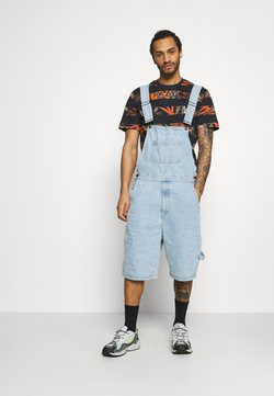 Karl Kani - ORIGINALS DUNGAREE - Shorts - light blue