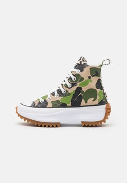 Converse - RUN STAR HIKE ARCHIVE GONE WILD UNISEX - Sneakersy wysokie - candied ginger/piquant green/white