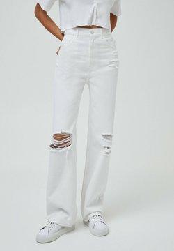 PULL&BEAR - Straight leg -farkut - white