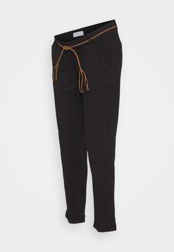 MAMALICIOUS - MLBEACH BELT PANT - Pantalon classique - black