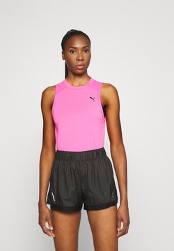 Puma - TRAIN PANEL TANK - Funktionsshirt - luminous pink