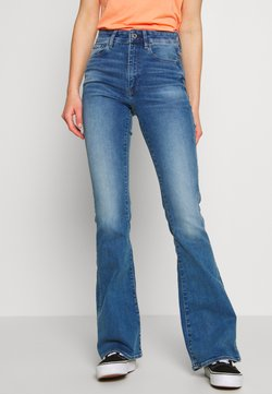 G-Star - 3301 HIGH FLARE - Flared Jeans - faded azure
