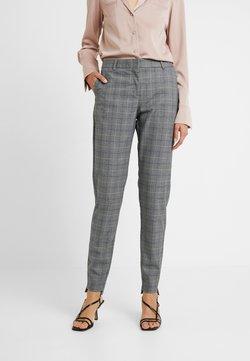 Selected Femme Tall - SLFAMILA PANT CHECK - Chinot - medium grey melange/comb