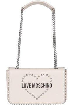 Love Moschino - MIT NIETEN - Umhängetasche - ivory